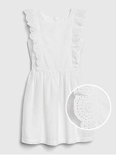 Kids Eyelet Ruffle Dress