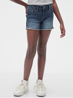 Kids Denim Shortie Shorts