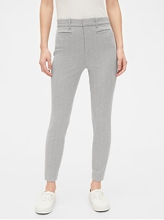 High Rise Signature Skinny Ankle Pants