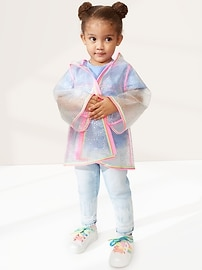 Toddler Sparkle Rainbow Raincoat