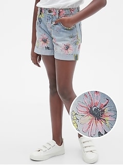 Kids Floral Girlfriend Shorts