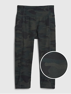 GapFit Kids Crop Camo Legging
