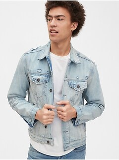 Gap 50th Anniversary Destructed Icon Denim Jacket