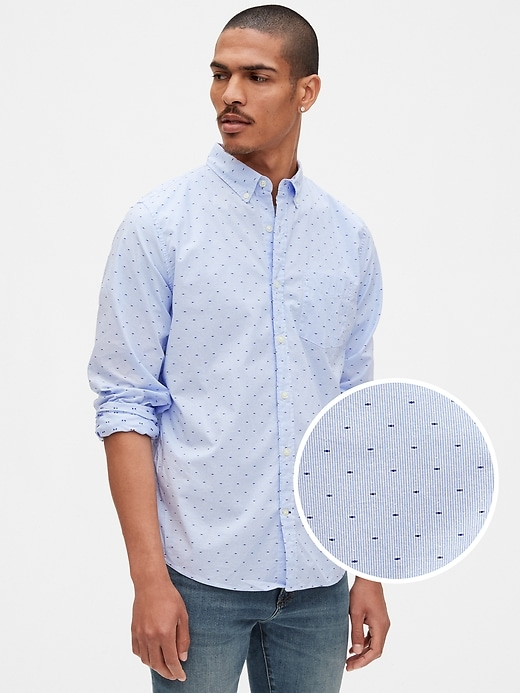 Gap Lived-In True Wash Poplin Shirt