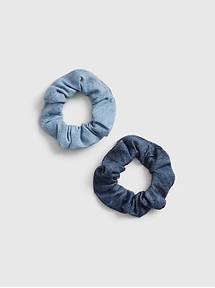 Kids Denim Scrunchies (2-Pack)