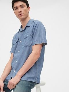 Chambray Worker Shirt in Standard Fit