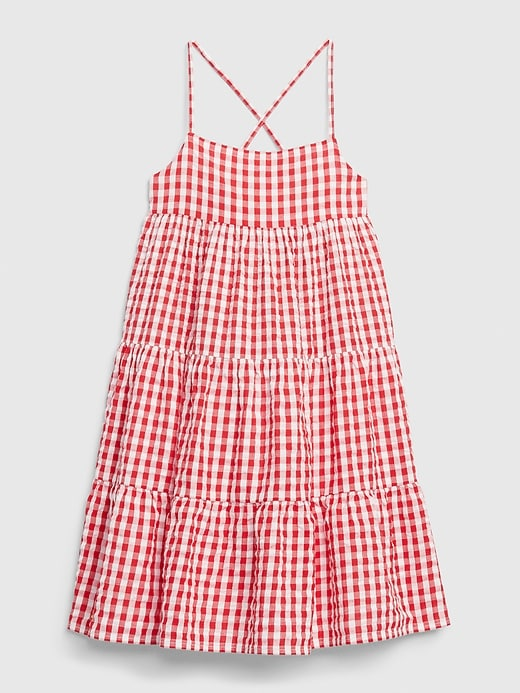 Kids Tiered Gingham Dress