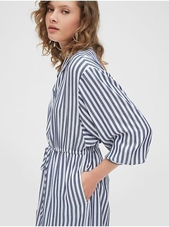 Striped Midi Shirtdress