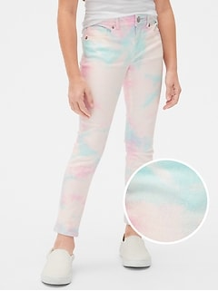 Kids Tie-Dye Super Skinny Jeans with Stretch
