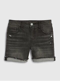 Kids Distressed Denim Shorts