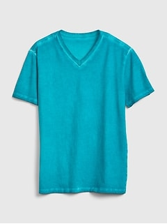 Faded V-Neck T-Shirt