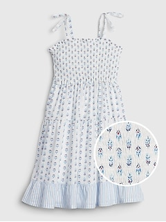 Kids Bow-Tie Pattern Dress