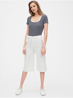 High Rise Culotte Jeans