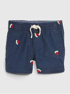 Baby Watermelon Pull-On Shorts