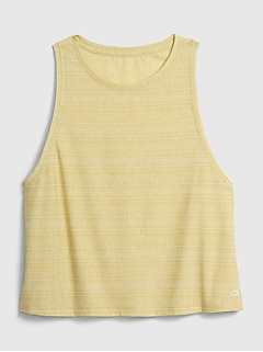 GapFit Breathe Cropped Muscle Tank Top