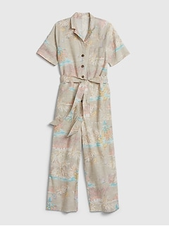 Utility Jumpsuit in Linen-Cotton