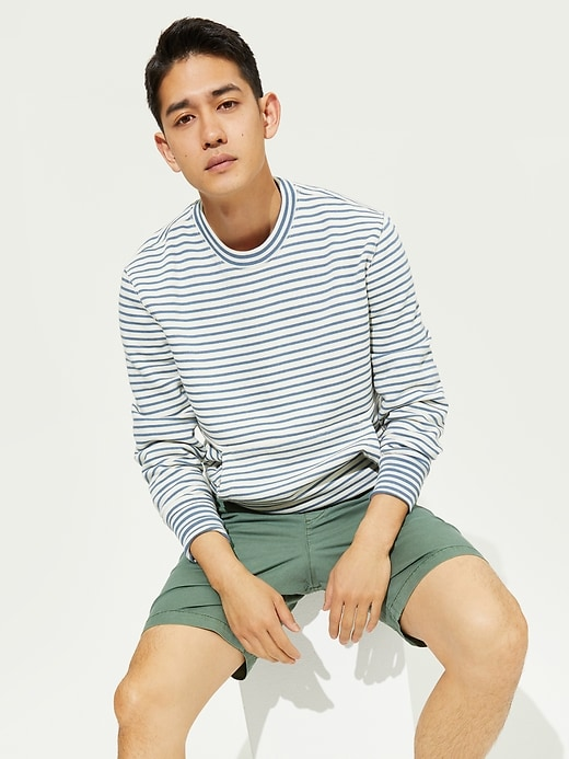 Gap Stripe Crewneck Sweatshirt