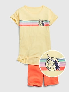Kids Graphic Short PJ Set