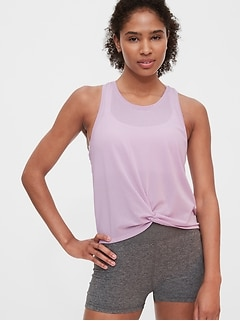 GapFit Twist-Front Tank Top