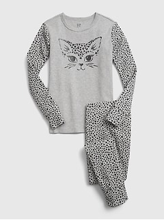 Kids Cat Graphic PJ Set