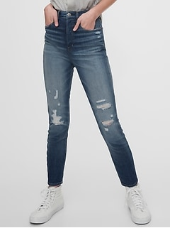 1969 Premium Sky High Distressed Skinny Jeans