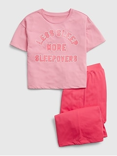Kids Graphic Cropped PJ Set