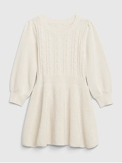 Kids Cable Knit Flounce Dress