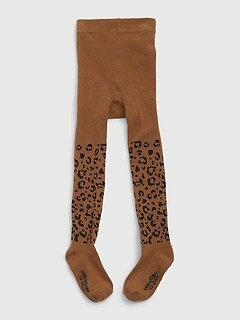 Toddler Leopard Print Tights