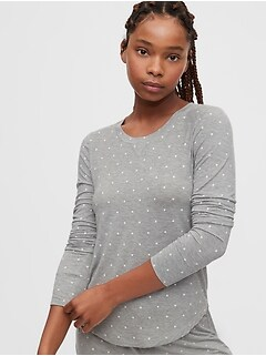 Print PJ Shirt in Modal