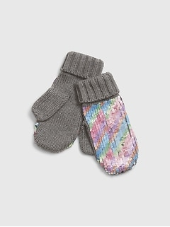 Kids Flippy Sequin Mittens
