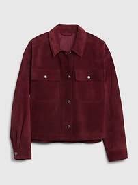 Cropped Suede Utility Jacket