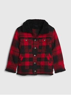 Toddler Sherpa Lined Shirt Jacket