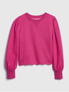 Kids Puff Sleeve Crewneck Sweatshirt