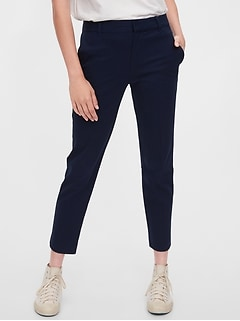 High Rise Slim Ankle Pants