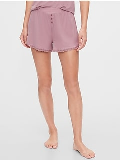 Lace Pajama Shorts in Modal