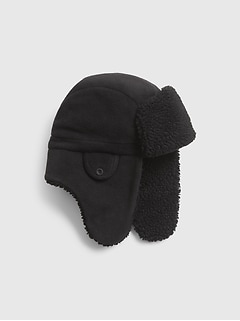 Kids Sherpa Lined Trapper Hat