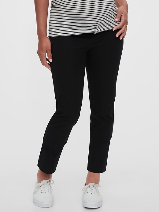 Maternity Inset Panel Slim Ankle Pants
