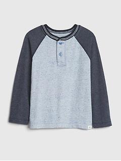 Toddler Long Sleeve Henley Shirt