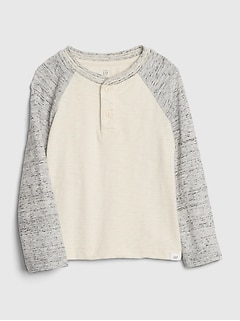 Toddler Long Sleeve Henley Shirt