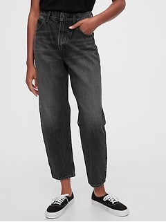 High Rise Barrel Jeans