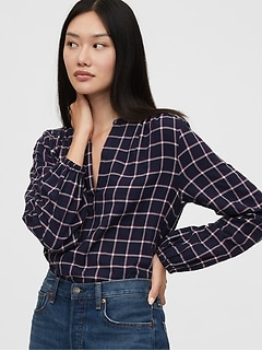 Popover Plaid Shirt