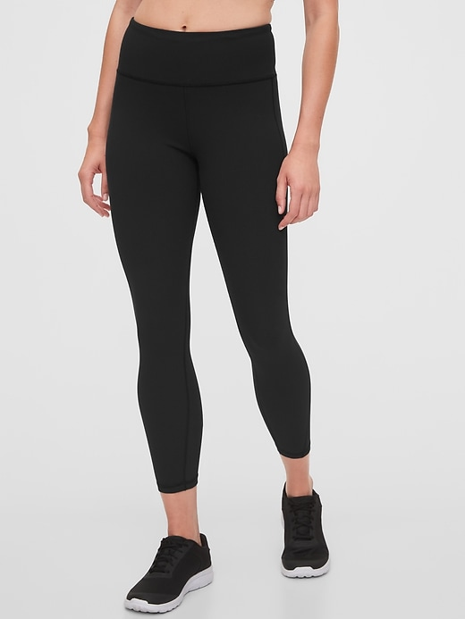 GapFit High Rise Blackout Ribbed 7/8 Leggings