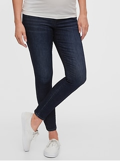 Maternity Inset Panel Skinny Jeans With Washwell™