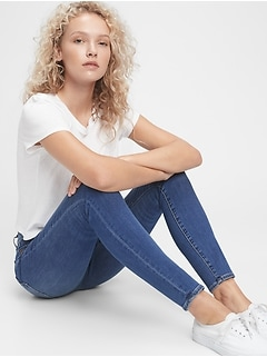 High Rise True Skinny Jeans With Washwell™