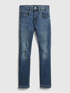 Kids Destructed Super Skinny Jeans with Washwell™
