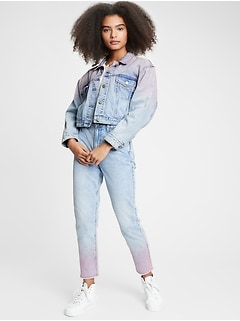 Teen Cropped Icon Denim Jacket