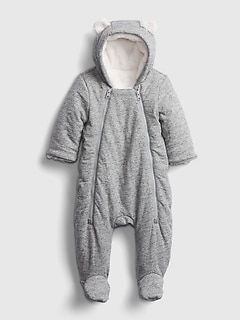 Baby Double-Zip Puffer One-Piece