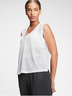 GapFit V-Neck Tissue Tank Top