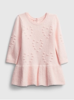 Baby Heart Bobble Dress