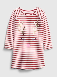 babyGap Reindeer PJ Dress
